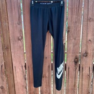Nike Faded Black Yoga Workout Leggings